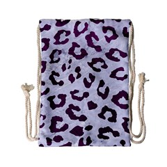 Skin5 White Marble & Purple Leather Drawstring Bag (small) by trendistuff