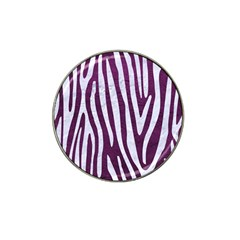 Skin4 White Marble & Purple Leather (r) Hat Clip Ball Marker (10 Pack) by trendistuff