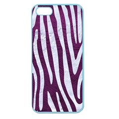 Skin4 White Marble & Purple Leather (r) Apple Seamless Iphone 5 Case (color) by trendistuff