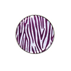 Skin4 White Marble & Purple Leather Hat Clip Ball Marker (10 Pack) by trendistuff