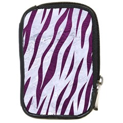 Skin3 White Marble & Purple Leather (r) Compact Camera Cases by trendistuff
