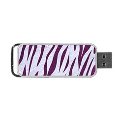 Skin3 White Marble & Purple Leather (r) Portable Usb Flash (two Sides) by trendistuff