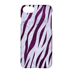 Skin3 White Marble & Purple Leather (r) Apple Iphone 7 Hardshell Case by trendistuff