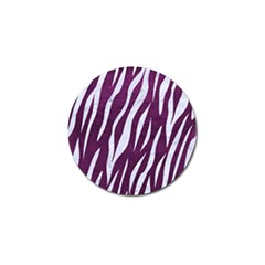 Skin3 White Marble & Purple Leather Golf Ball Marker (10 Pack) by trendistuff