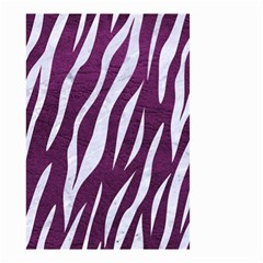 Skin3 White Marble & Purple Leather Small Garden Flag (two Sides) by trendistuff