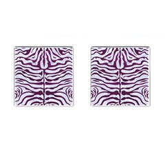 Skin2 White Marble & Purple Leather (r) Cufflinks (square) by trendistuff