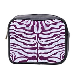 Skin2 White Marble & Purple Leather (r) Mini Toiletries Bag 2 Side by trendistuff