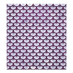 Scales3 White Marble & Purple Leather (r)scales3 White Marble & Purple Leather (r) Shower Curtain 66  X 72  (large)  by trendistuff