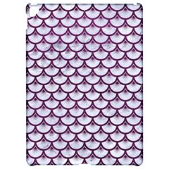 Scales3 White Marble & Purple Leather (r)scales3 White Marble & Purple Leather (r) Apple Ipad Pro 12 9   Hardshell Case by trendistuff