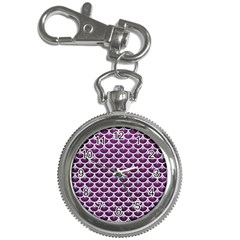 Scales3 White Marble & Purple Leather Key Chain Watches by trendistuff