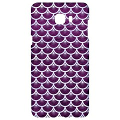 Scales3 White Marble & Purple Leather Samsung C9 Pro Hardshell Case  by trendistuff