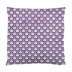 Scales2 White Marble & Purple Leather (r) Standard Cushion Case (one Side) by trendistuff