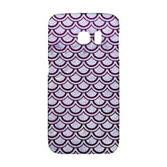 Scales2 White Marble & Purple Leather (r) Galaxy S6 Edge by trendistuff