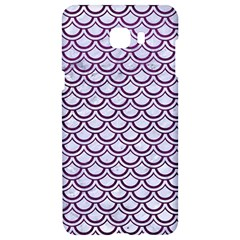Scales2 White Marble & Purple Leather (r) Samsung C9 Pro Hardshell Case  by trendistuff