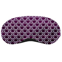 Scales2 White Marble & Purple Leather Sleeping Masks by trendistuff