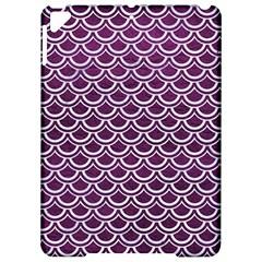 Scales2 White Marble & Purple Leather Apple Ipad Pro 9 7   Hardshell Case