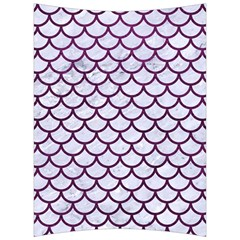 Scales1 White Marble & Purple Leather (r) Back Support Cushion by trendistuff
