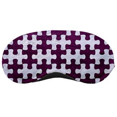 Puzzle1 White Marble & Purple Leather Sleeping Masks by trendistuff