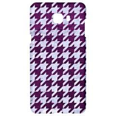 Houndstooth1 White Marble & Purple Leather Samsung C9 Pro Hardshell Case  by trendistuff