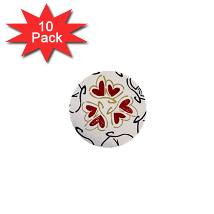 Loving Hearts 1  Mini Buttons (10 pack)