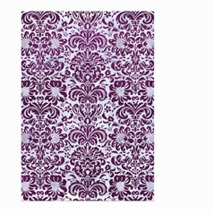 Damask2 White Marble & Purple Leather (r) Large Garden Flag (two Sides) by trendistuff