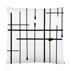 White Limits By Jandi Standard Cushion Case (two Sides) by Art2City