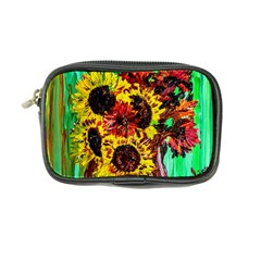 Sunflowers In Elizabeth House Coin Purse by bestdesignintheworld