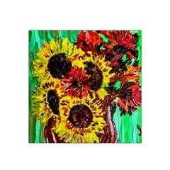 Sunflowers In Elizabeth House Satin Bandana Scarf by bestdesignintheworld