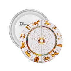 Zodiac  Institute Of Vedic Astrology 2 25  Buttons by Sapixe