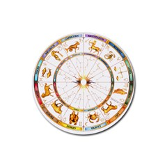 Zodiac  Institute Of Vedic Astrology Rubber Coaster (round)  by Sapixe