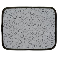 Water Glass Pattern Drops Wet Netbook Case (large) by Sapixe