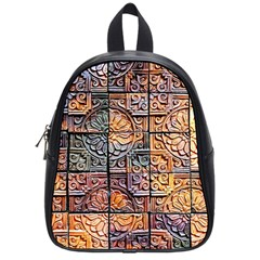 Wooden Blocks Detail School Bag (small) by Sapixe