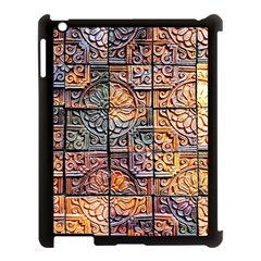 Wooden Blocks Detail Apple Ipad 3/4 Case (black) by Sapixe