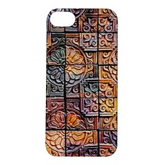 Wooden Blocks Detail Apple Iphone 5s/ Se Hardshell Case by Sapixe