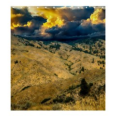 Hills Countryside Landscape Nature Shower Curtain 66  X 72  (large)  by Sapixe