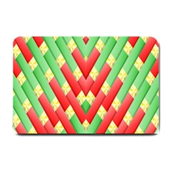Christmas Geometric 3d Design Small Doormat  by Sapixe