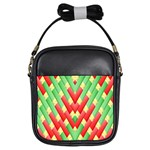 Christmas Geometric 3d Design Girls Sling Bags Front
