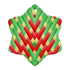 Christmas Geometric 3d Design Snowflake Ornament (two Sides) by Sapixe