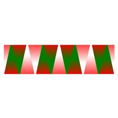 Christmas Geometric Background Satin Scarf (oblong) by Sapixe
