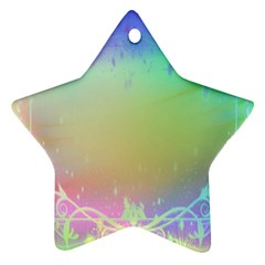 Christmas Greeting Card Frame Star Ornament (two Sides) by Sapixe