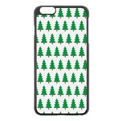 Christmas Background Christmas Tree Apple Iphone 6 Plus/6s Plus Black Enamel Case by Sapixe