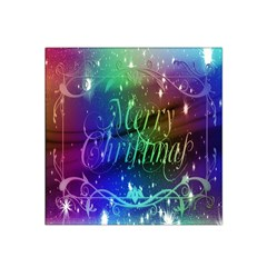 Christmas Greeting Card Frame Satin Bandana Scarf by Sapixe