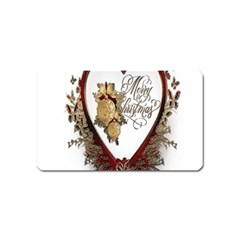 Christmas Décor Decoration Winter Magnet (name Card) by Sapixe