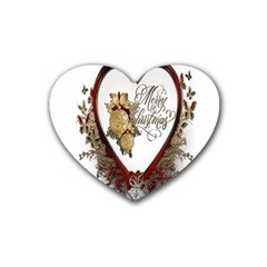 Christmas Décor Decoration Winter Heart Coaster (4 Pack)  by Sapixe