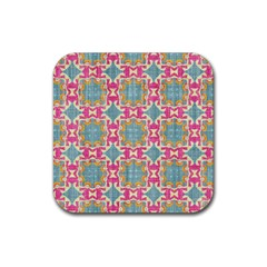 Christmas Holidays Seamless Pattern Rubber Square Coaster (4 Pack)  by Sapixe