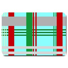 Christmas Plaid Backgrounds Plaid Large Doormat  by Sapixe
