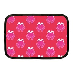 Christmas Red Pattern Reasons Netbook Case (medium)  by Sapixe