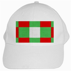 Fabric Christmas Colors Bright White Cap by Sapixe