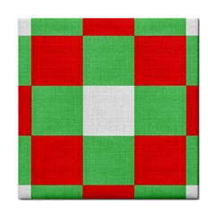 Fabric Christmas Colors Bright Face Towel by Sapixe