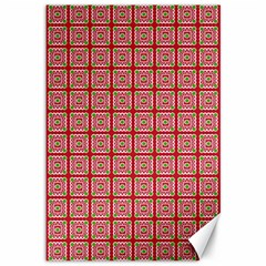 Christmas Paper Wrapping Paper Canvas 12  X 18   by Sapixe